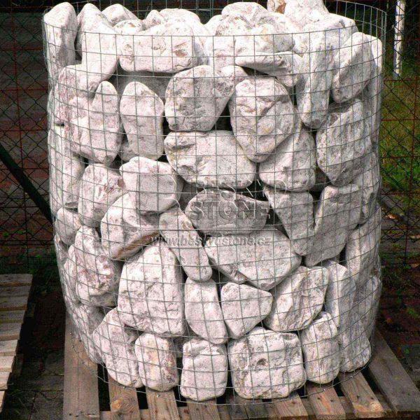 Dekorační kámen omílaný dolomit růžový