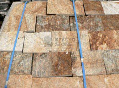 Řezaný pravidelný kámen Gneis-rula zlatá