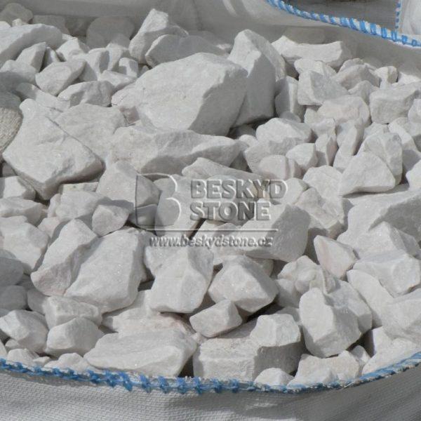 Dekorační kámen mramor thassos drť