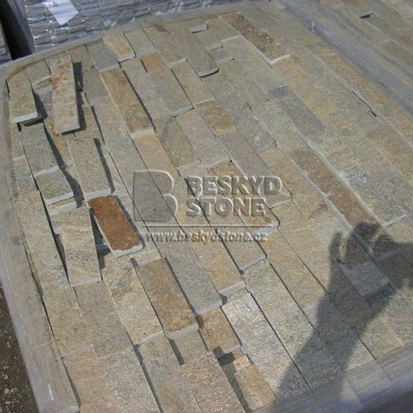 Kamenný obkladový pásek Gneis medový