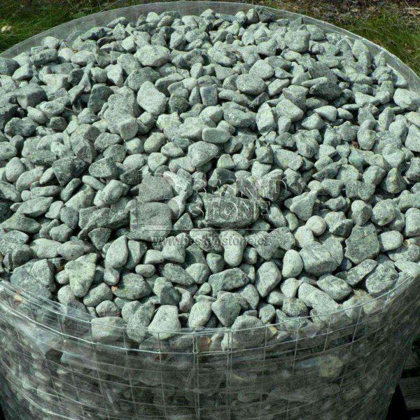 Dekorační omílaný kámen -zelené valounky