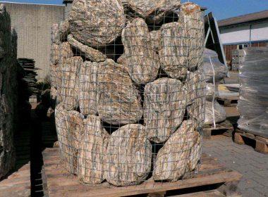 Dekorační kámen omílaný zkamenělé dřevo